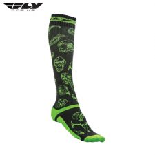Fly 2018 MX Pro Thin Adult Sock (Green/Black)